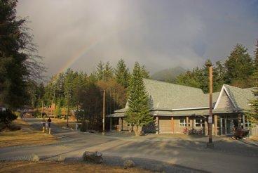 Rainbow on Sheldon Jackson College Campus
