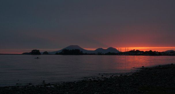 Sunset over Crescent Bay