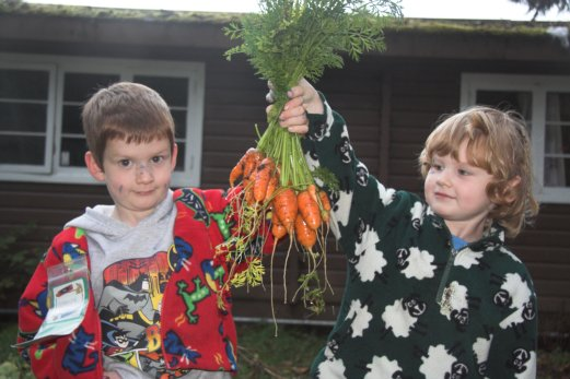 Kids with Carrots