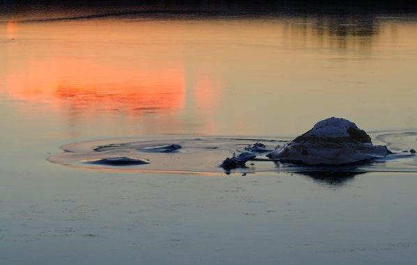 Sunset on Tidal Lagoon Ice