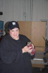 Ryan with Western Screech Owl