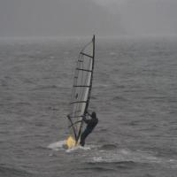 Windsurfing on Crescent Bay
