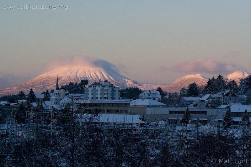 Mt. Edgecumbe at Sunrise