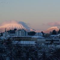 Mt. Edgecumbe at Sunrise