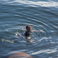Jonathan Swimming at Sage Beach
