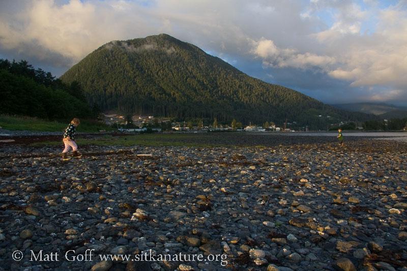 Connor and Rowan on the Beach