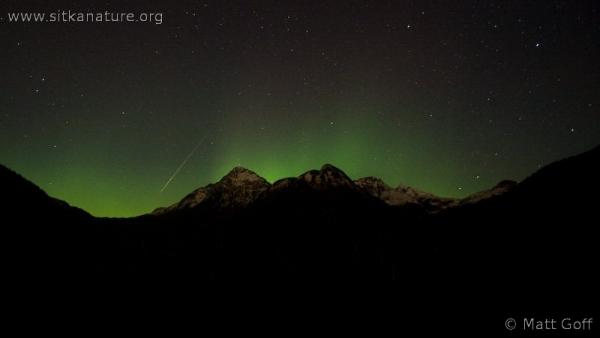 Northern Lights and Shooting Star