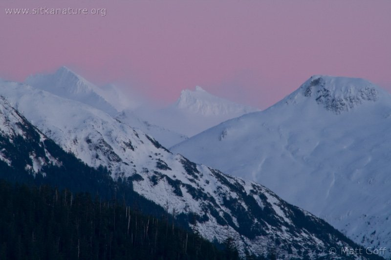 Blowing Snow on High Peaks of Baranof Island