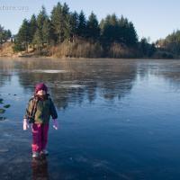Rowan on Swan Lake
