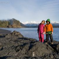 Connor and Rowan on Kamenoi Point Beach