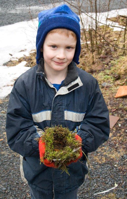 Connor with Bird Nest