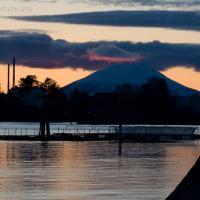 Sunset behind Mt. Edgecumbe