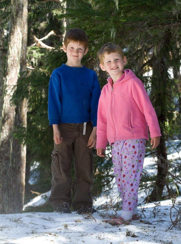 Connor and Rowan on the Ridge