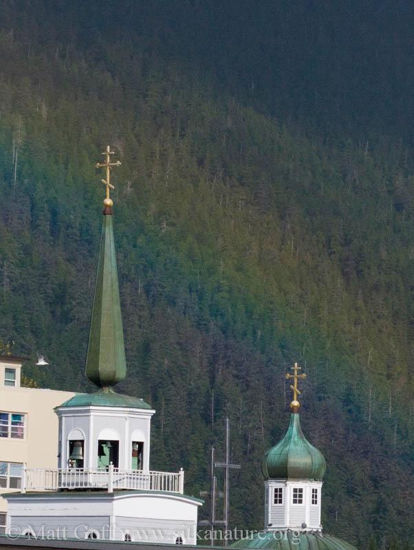 Rainbow behind St. Michaels