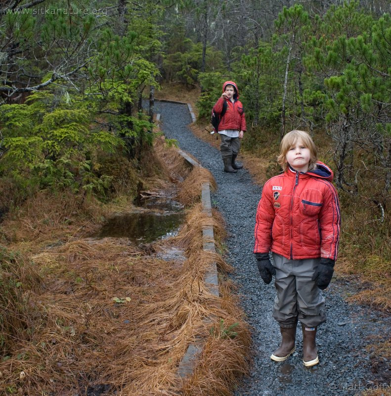 Connor and Rowan on the Cross Trail