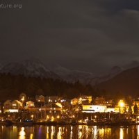 The Sisters and Sitka at Night