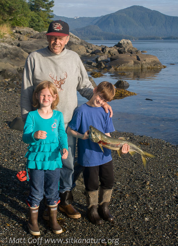Grandpa and Grandkids with Catch