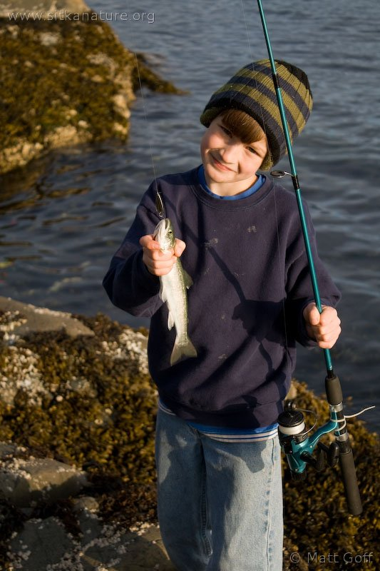 Connor with his Catch