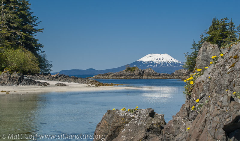 Mt. Edgecumbe from Pirate's Cove