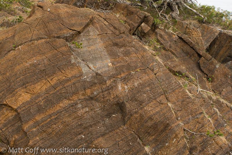 Striped Ultramafic Rock Outcrop