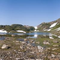 Snow Melt Pond Shore