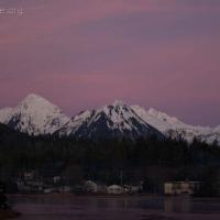 Sisters and Swan Lake at Sunset