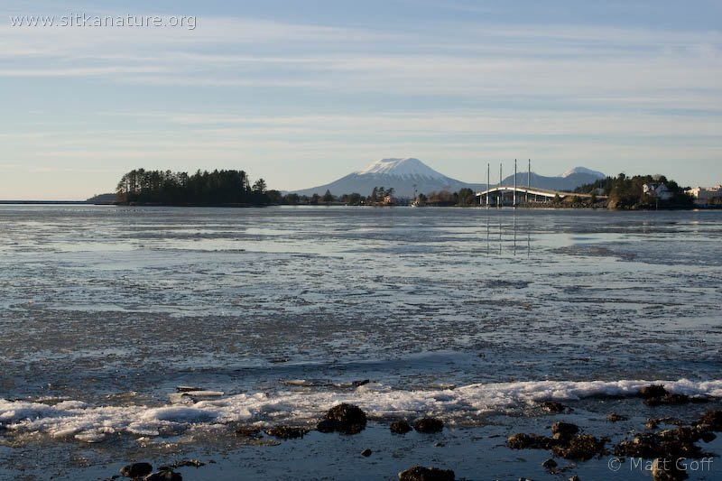 Sea Ice and Mt. Edgecumbe