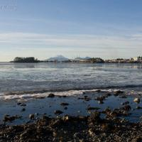 Sea Ice and Mt. Edgecumbe