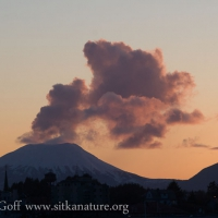 Sunset Clouds over Mt. Edgecumbe