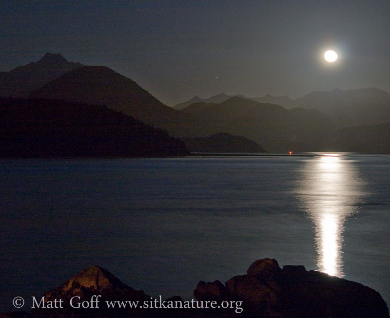 Moon Rise over Crescent Bay