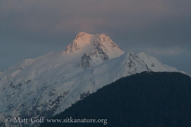 Last light on Cross Mountain