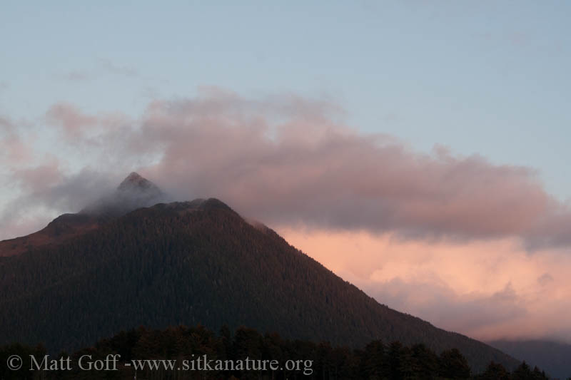 Mt. Verstovia at Sunset