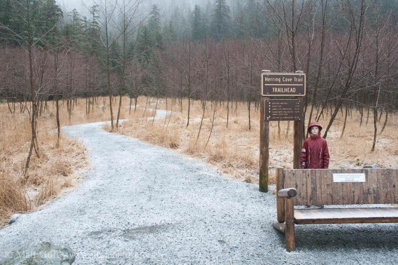 Rowan at the Trailhead