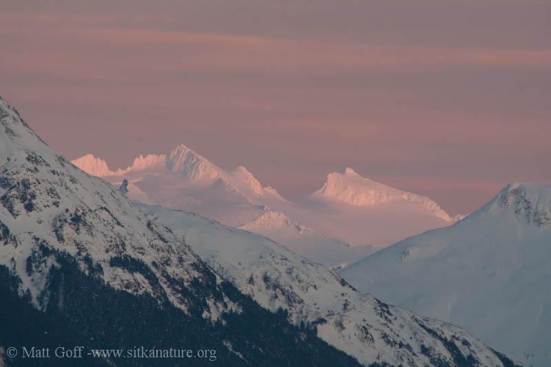 Sunset Light on High Baranof Peaks