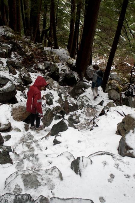 Going down Herring Cove Trail