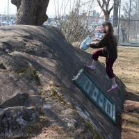 Rowan Running up Rock