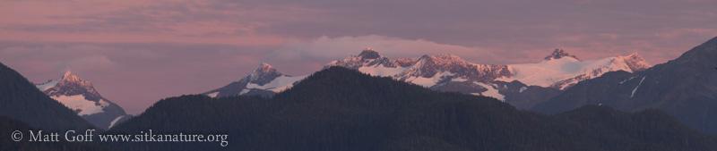 Alpine Glow on Mountains