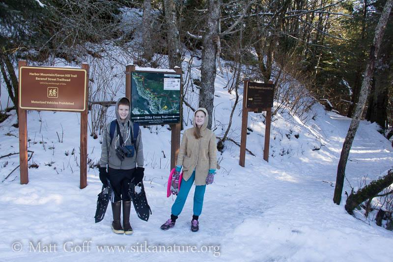 Connor and Rowan at the Gavan Hill Trailhead