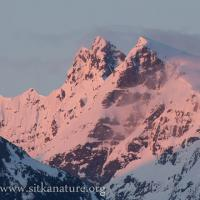 Alpenglow on Clarence Kramer Peak