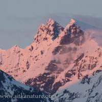 Alpenglow on Clarence Kramer Peak