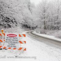 Blue Lake Road Closed