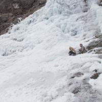 Connor and Rowan on Icy Falls
