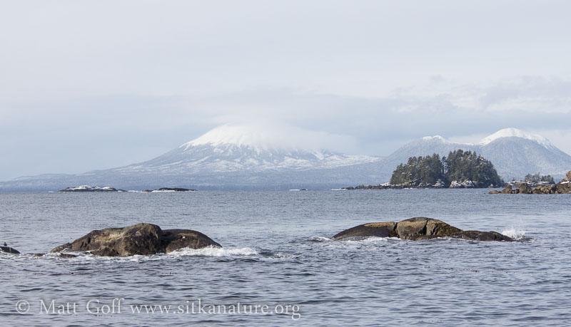 Mt. Edgecumbe from John Brown's Beach