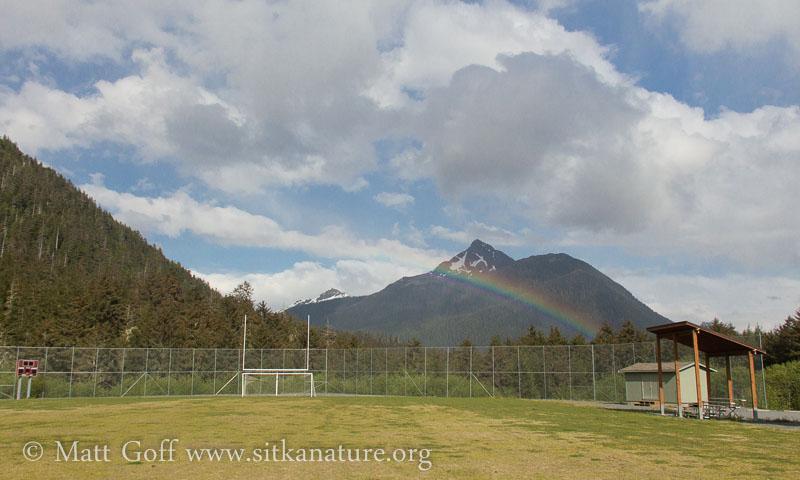 Rainbow in front of Mt. Verstovia
