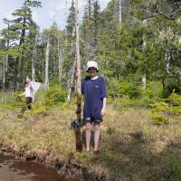 Measuring Muskeg Puddle Depth