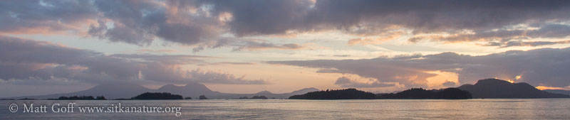 Sunset Pastels and Mt. Edgecume (pano)