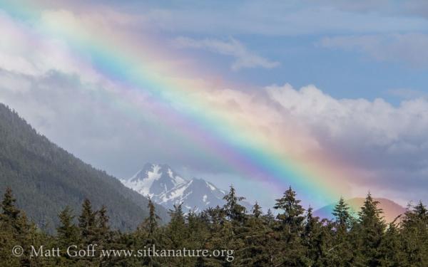 Rainbow over Cross Mountain