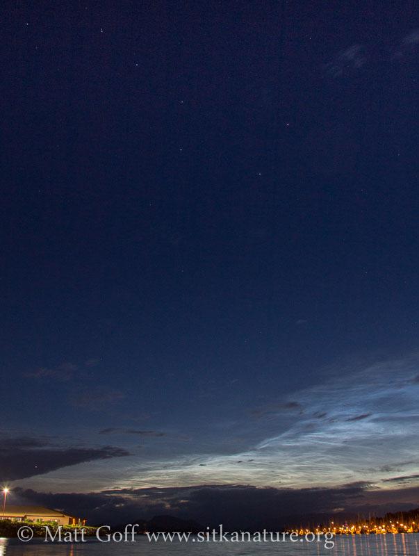 Noctilucent Clouds under the Big Dipper