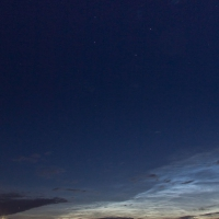 Noctilucent Clouds under the Big Dipper