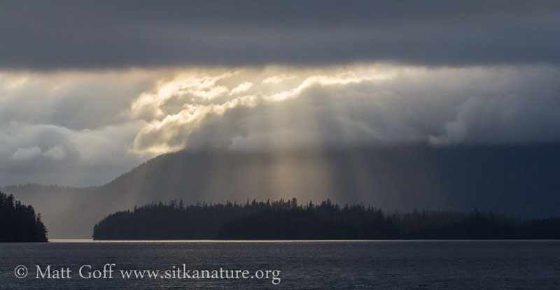 Crepuscular Rays over Islands and Water